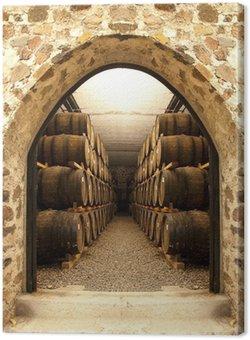 Tableau sur Toile Les tonneaux de vin