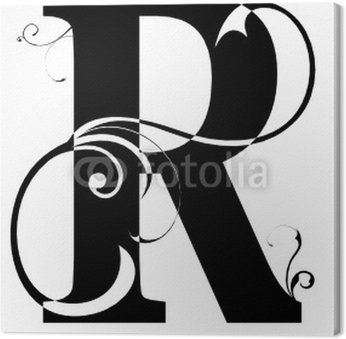 Tableau sur Toile Letra R Alphabet