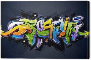 Tableau sur Toile Lettrage de graffiti lumineux