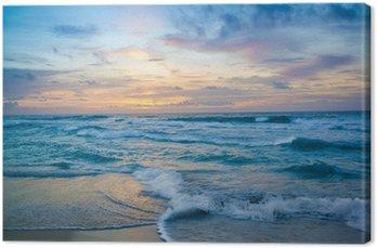Tableau sur Toile Lever de soleil à Cancun