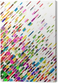 Tableau sur Toile Lignes mobiles colorées abstraites, vecteur de fond
