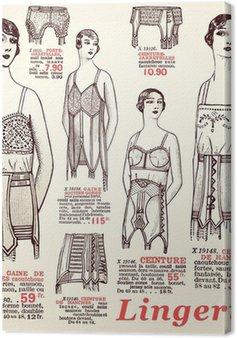 Tableau sur Toile Lingerie 1930