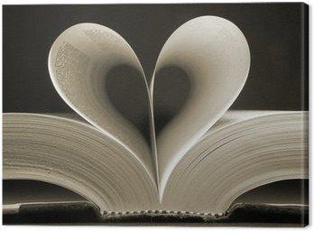 Tableau sur Toile Livre en forme de coeur