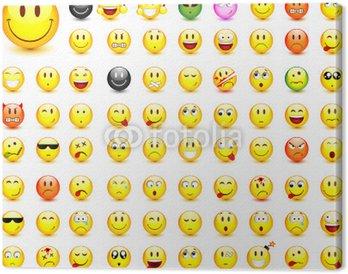 Tableau sur Toile Lot de 87 smileys vectoriels, facilement modifiable
