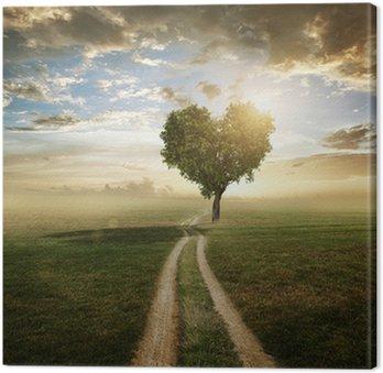 Tableau sur Toile Love tree