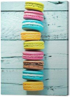 Tableau sur Toile Macarons français