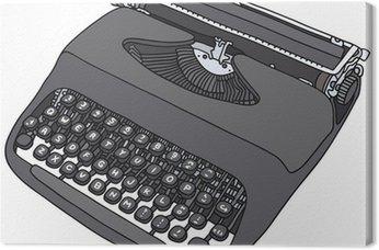 Tableau sur Toile Machine à écrire portative