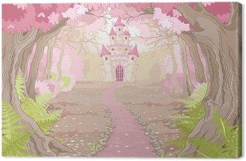 Tableau sur Toile Magic Castle Paysage