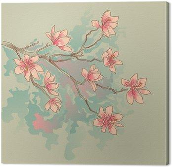 Tableau sur Toile Magnolia aquarelle
