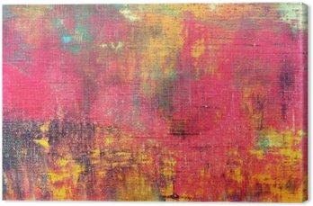 Tableau sur Toile Main abstrait coloré toile peinte fond texture