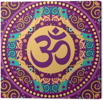 Tableau sur Toile Mandala ohm