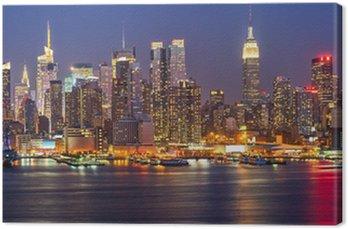 Tableau sur Toile Manhattan la nuit