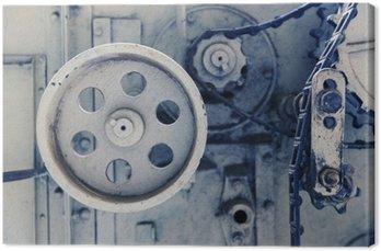 Tableau sur Toile Mécanisme de machine à vendanger à l'usine