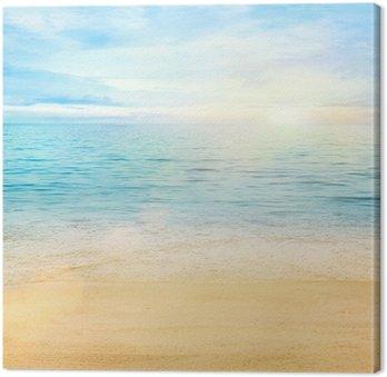 Tableau sur Toile Mer et sable de fond