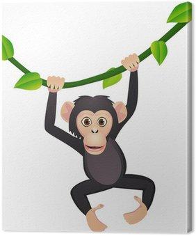 Tableau sur Toile Mignon chimpanzé