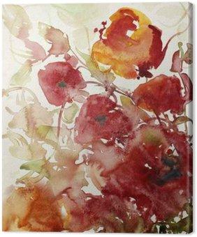 Tableau sur Toile Mohnblumen malerei aquarell