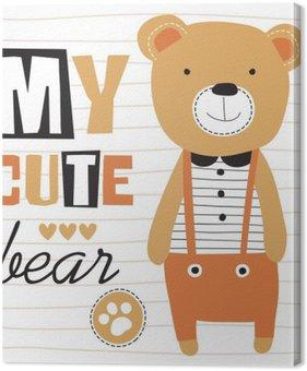 Tableau sur Toile Mon mignon ours en peluche illustration vectorielle