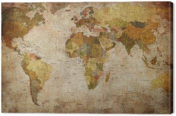 Tableau sur Toile Monde de carte