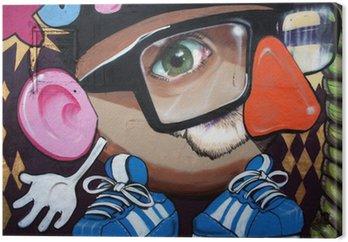 Tableau sur Toile Monigote en graffiti