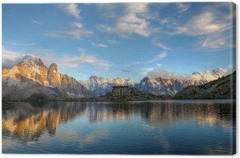 Tableau sur Toile Mont-Blanc massif, France