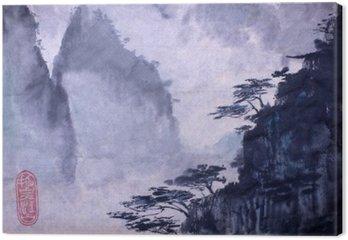 Tableau sur Toile Montagnes et de pins