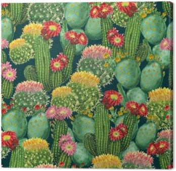 Tableau sur Toile Motif de cactus en fleurs