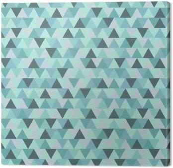 Tableau sur Toile Motif de triangle de Noël Résumé, bleu gris hiver géométrique vacances fond