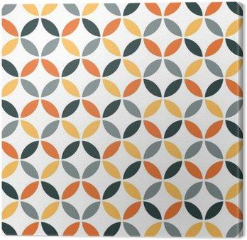 Tableau sur Toile Motif géométrique orange Retro Seamless