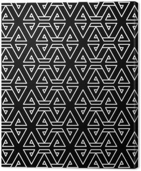 Tableau sur Toile Motif oreiller de mode abstrait géométrique hippie noir et blanc