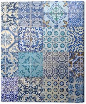 Tableau sur Toile Motifs azujelo bleu