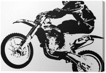 Tableau sur Toile Motocross cavalier