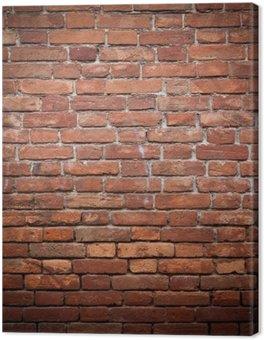 Tableau sur Toile Mur de brique rouge vieux grunge texture