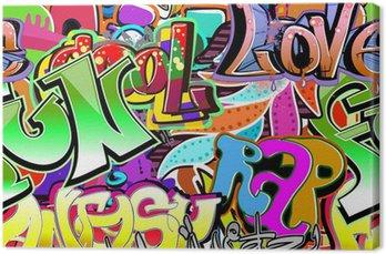 Tableau sur Toile Mur de graffiti. Urban fond de vecteur de l'art. Seamless