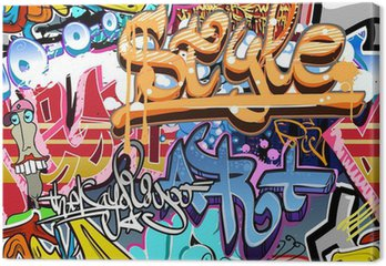 Tableau sur Toile Mur de graffiti. Urban fond de vecteur de l'art. Texture transparente