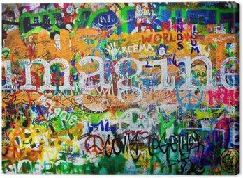 Tableau sur Toile Mur de John Lennon (Prague) - Imagine (Toma 1)