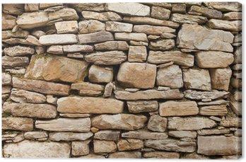 Tableau sur Toile Mur de pierre rugueuse de roches, petits et grands