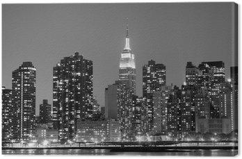 Tableau sur Toile New York à Night Lights, Midtown Manhattan