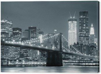 Tableau sur Toile New york city brooklyn bridge