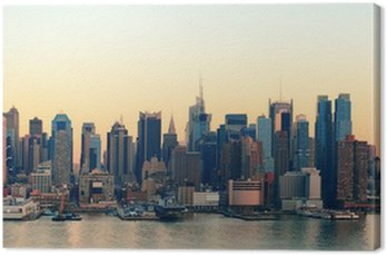 Tableau sur Toile New York City coucher du soleil