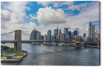 Tableau sur Toile New York City dans la lueur du soleil couchant