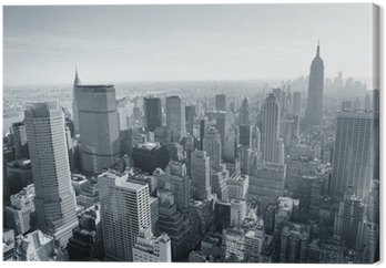 Tableau sur Toile New York City skyline noir et blanc