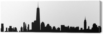 Tableau sur Toile New York Skyline - vecteur
