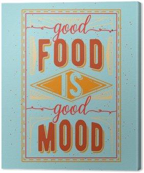 Tableau sur Toile Nourriture vintage citation typographique liés
