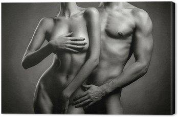 Tableau sur Toile Nu couple sensuel