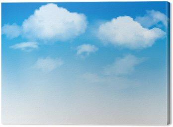 Tableau sur Toile Nuages blancs dans un ciel bleu. fond de ciel. Vecteur