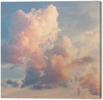Tableau sur Toile Nuages roses sur un ciel bleu
