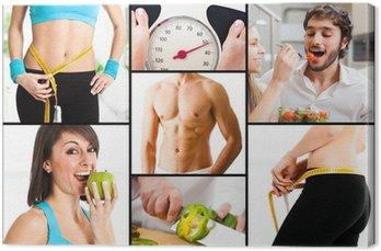 Tableau sur Toile Nutrition, l'alimentation et la perte de poids
