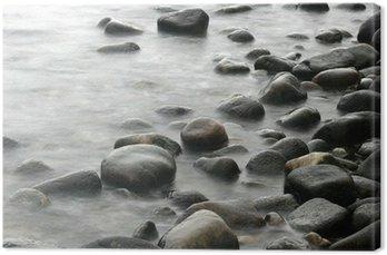 Tableau sur Toile Océan pierres
