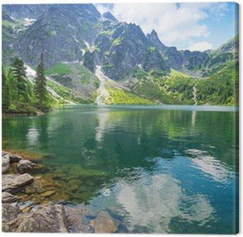 Tableau sur Toile Oeil du lac mer dans les montagnes des Tatras, Pologne