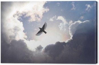 Tableau sur Toile Oiseau ange dans le ciel